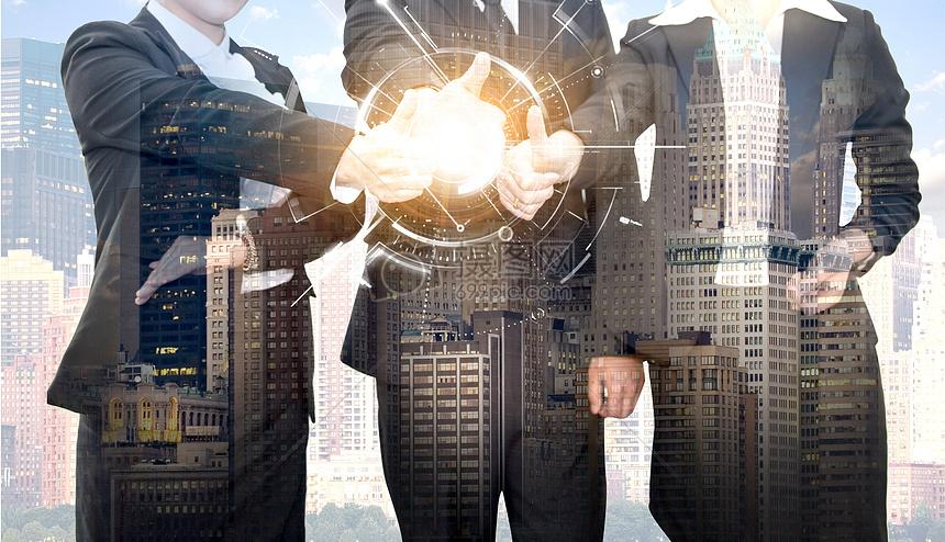 商務科技感金融經濟合作素材海報背景