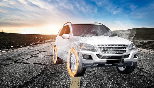 汽车轮胎特效图片