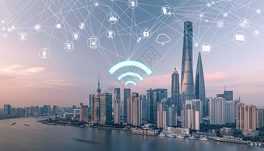城市网络技术和通讯图标图片