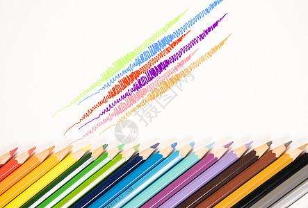 与众不同的彩色铅笔背景素材图片