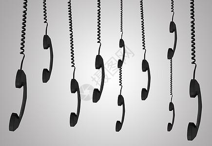创意听筒电话图片