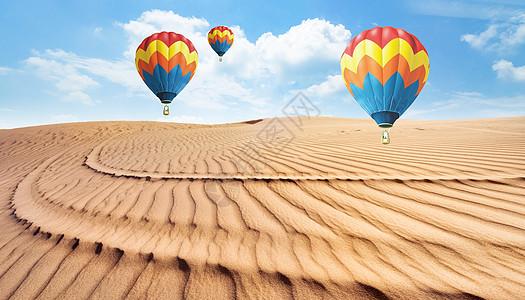 沙漠气球图片