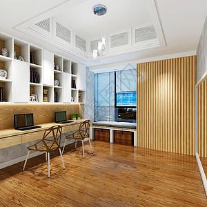 现代风格书房效果图图片