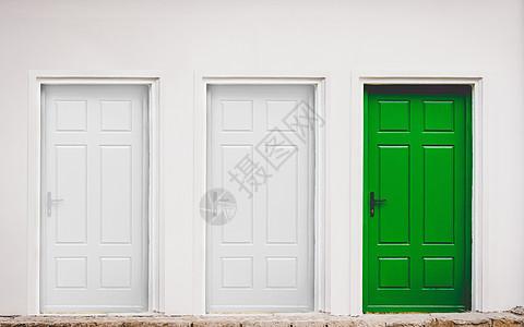 最小的概念空间白色的房间门图片