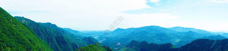 山脉全景图图片