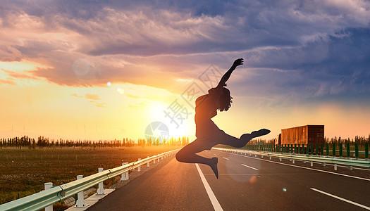 跳跃人物背景图片