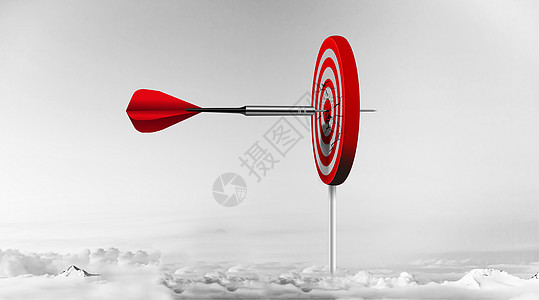 射穿靶子的飞镖图片