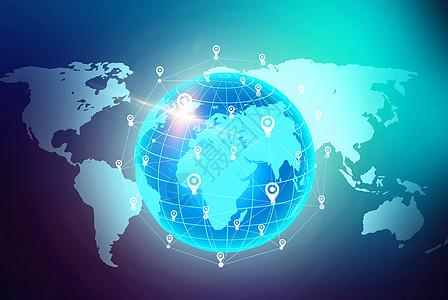 商务科技发光宇宙的地球素材海报背景图片