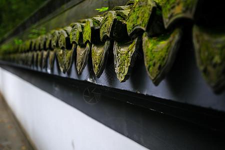 杭州西湖旁的建筑上的瓦当图片
