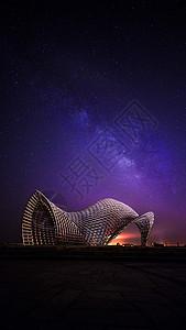 上海南汇嘴公园唯美星空夜景图片