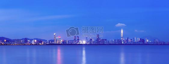 深圳福田区海岸线城市风光夜景图片