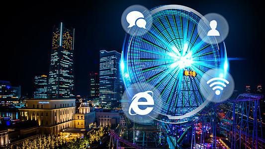 科技城市夜景图片