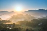 重庆郊外日出风景图片