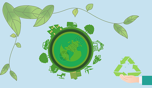 绿色科技循环图片