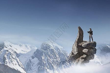 只有站得高才能望得远图片