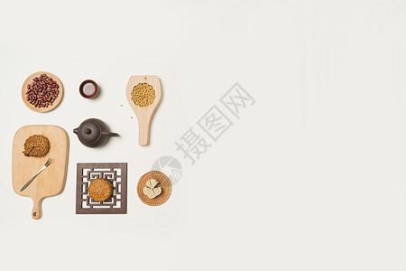 月饼与杂粮图片