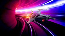 宇宙飞船穿越时空隧道图片