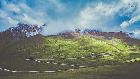 四川高原甘孜卓卡拉山图片