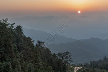 湖南紫鹊界日出图片