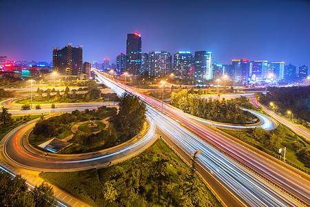 北京城市三元桥风光图片