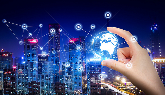 商务科技感金融经济商业海报背景素材图片