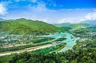 都江堰航拍图片