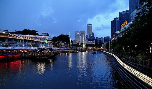 新加坡城市夜景图片