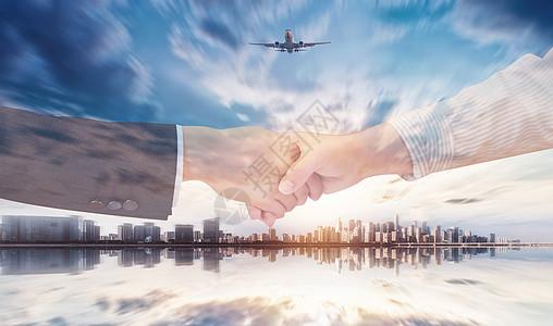 商务科技感金融经济合作素材海报背景图片