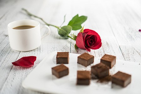 玫瑰咖啡巧克力图片