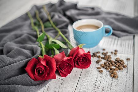 玫瑰浪漫咖啡图片