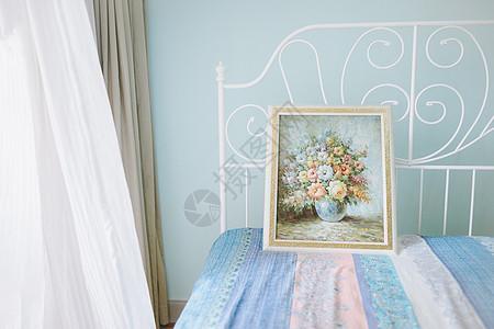清新文艺卧室公主床图片
