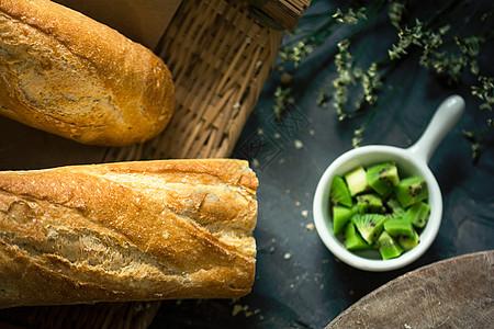 法棒面包营养早餐图片