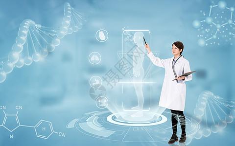 人体基因研究背景图图片