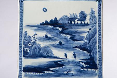 青花瓷笔筒图片