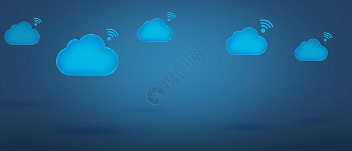 云服务蓝色banner背景图片