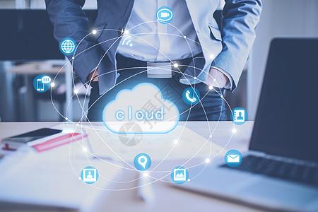 抽象商务云服务图片