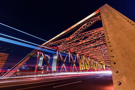 上海外滩动感外白渡桥图片