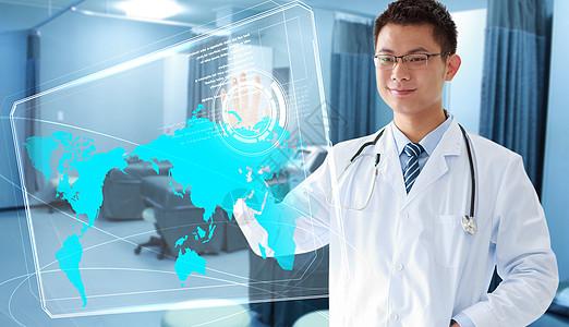 医生数据科技素材背景高清图片