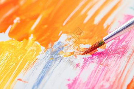 水彩画笔颜料图片