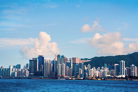 香港特别行政区维多利亚港城市一景图片