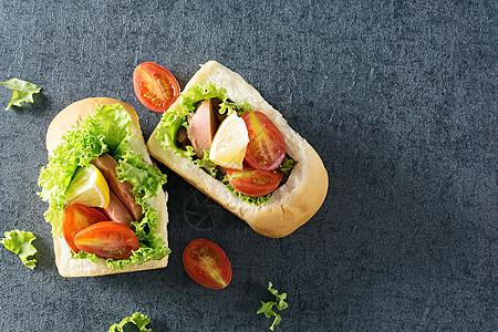 蔬菜面包营养早餐图片