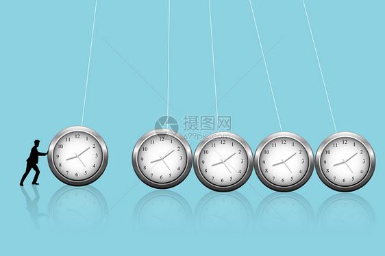 摇摆的钟表图片