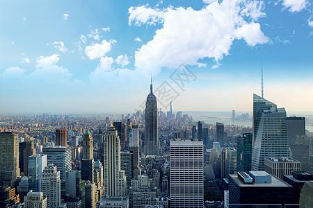 黄昏时刻的曼哈顿图片