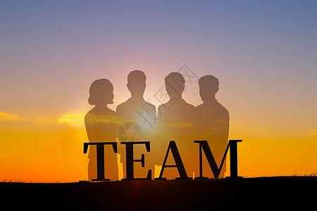 团队合作创意背景图图片