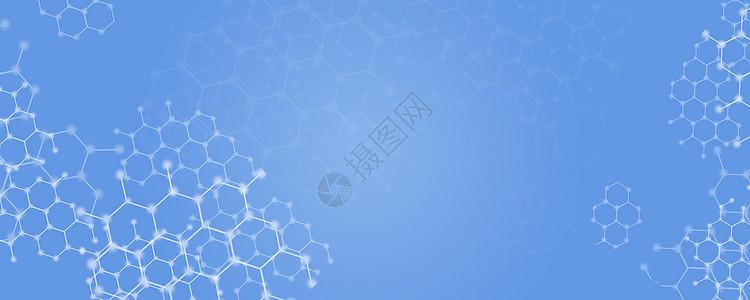 蓝色简洁科技背景素材图片