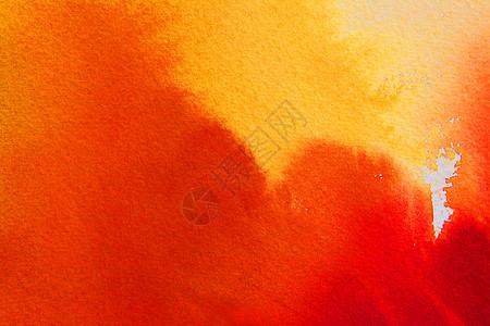 橘色系抽象水彩背景图片