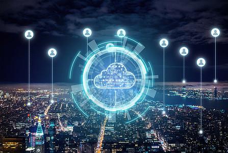 商务城市信息科技背景素材图片