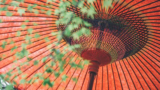 日本特色文化和伞图片