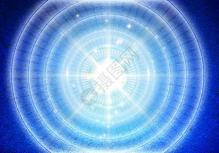 蓝色科技圆图片
