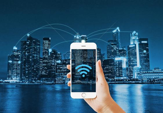 WIFI与城市的密切连接图片